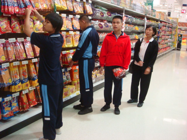 Students buy big packs from supermarket