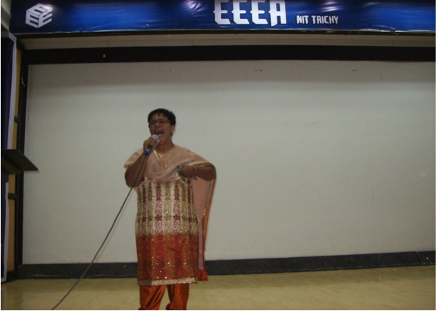 Vidhya gives an awareness talk