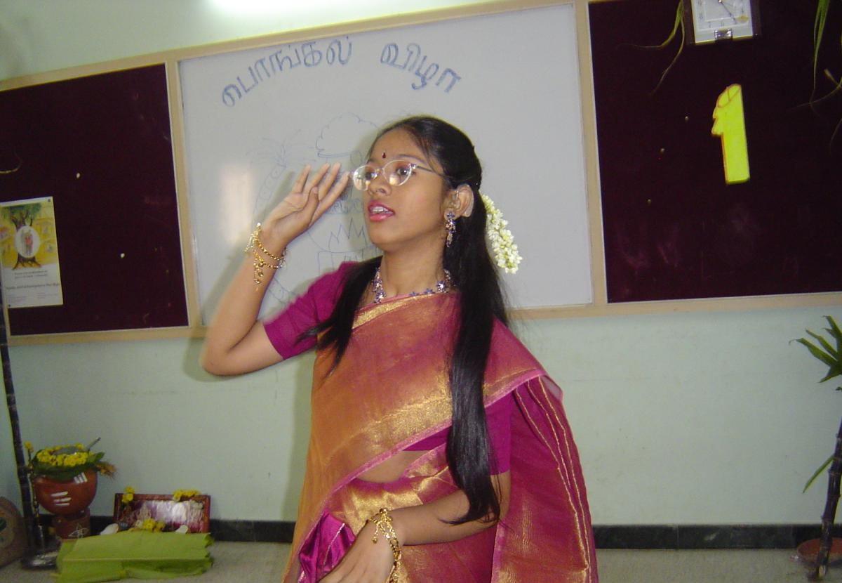 Sathiya participates in a cultural program.