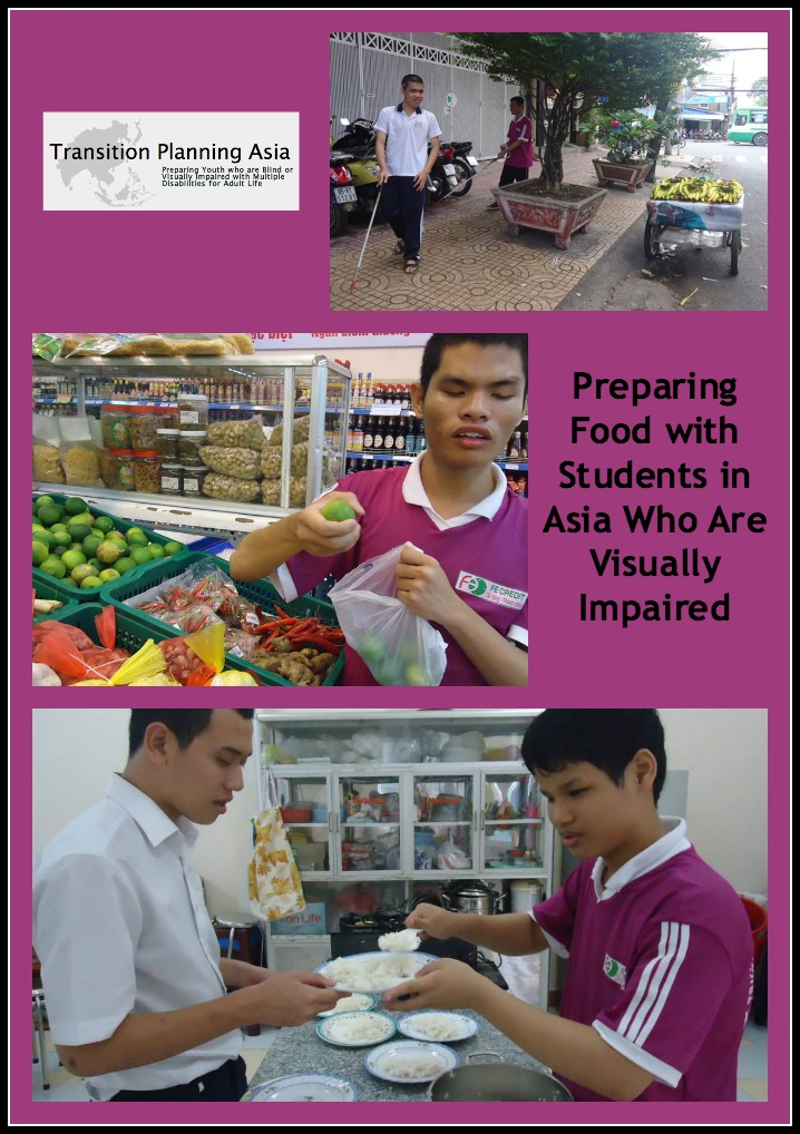 Collage of Preparing Food in Vietnam