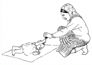 woman with child rolling over