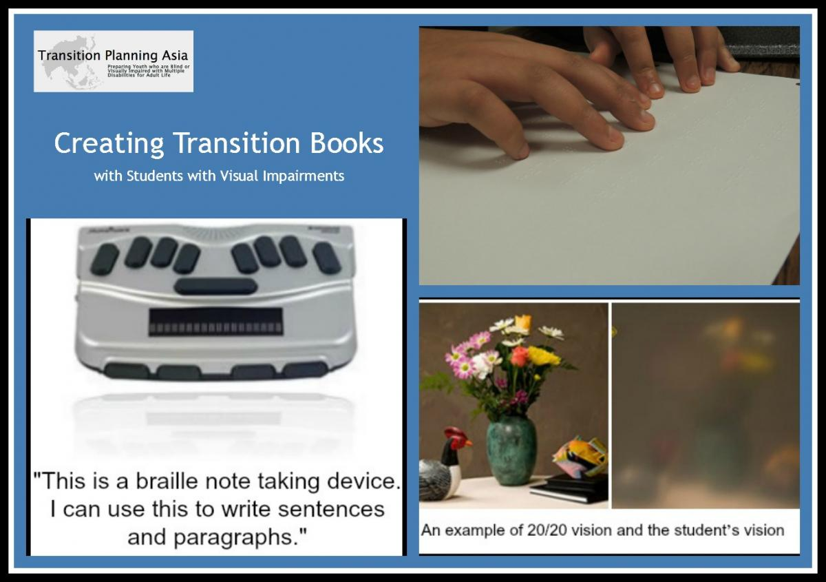 collage of creating transition books