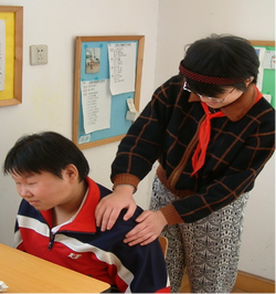 Photo of a shoulder massage