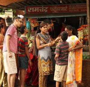 Youth in India visit market