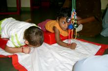 Babies in India receiving early intervention services