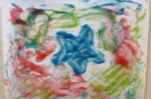 Bubbling finger paint