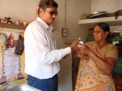 Photo of Rajesh with his mother