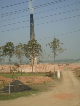 Photo of the brick kilns